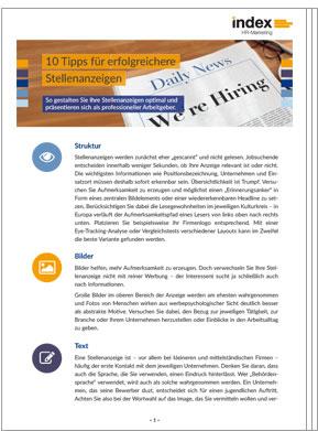 White Paper: 10 Tipps für erfolgreichere Stellenanzeigen
