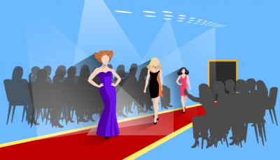 Laufsteg Modebranche Illustration