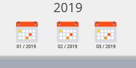 Kalender 1. Quartal 2019