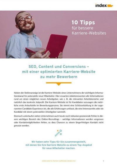 White Paper Tipps für bessere Karriere-Webseiten