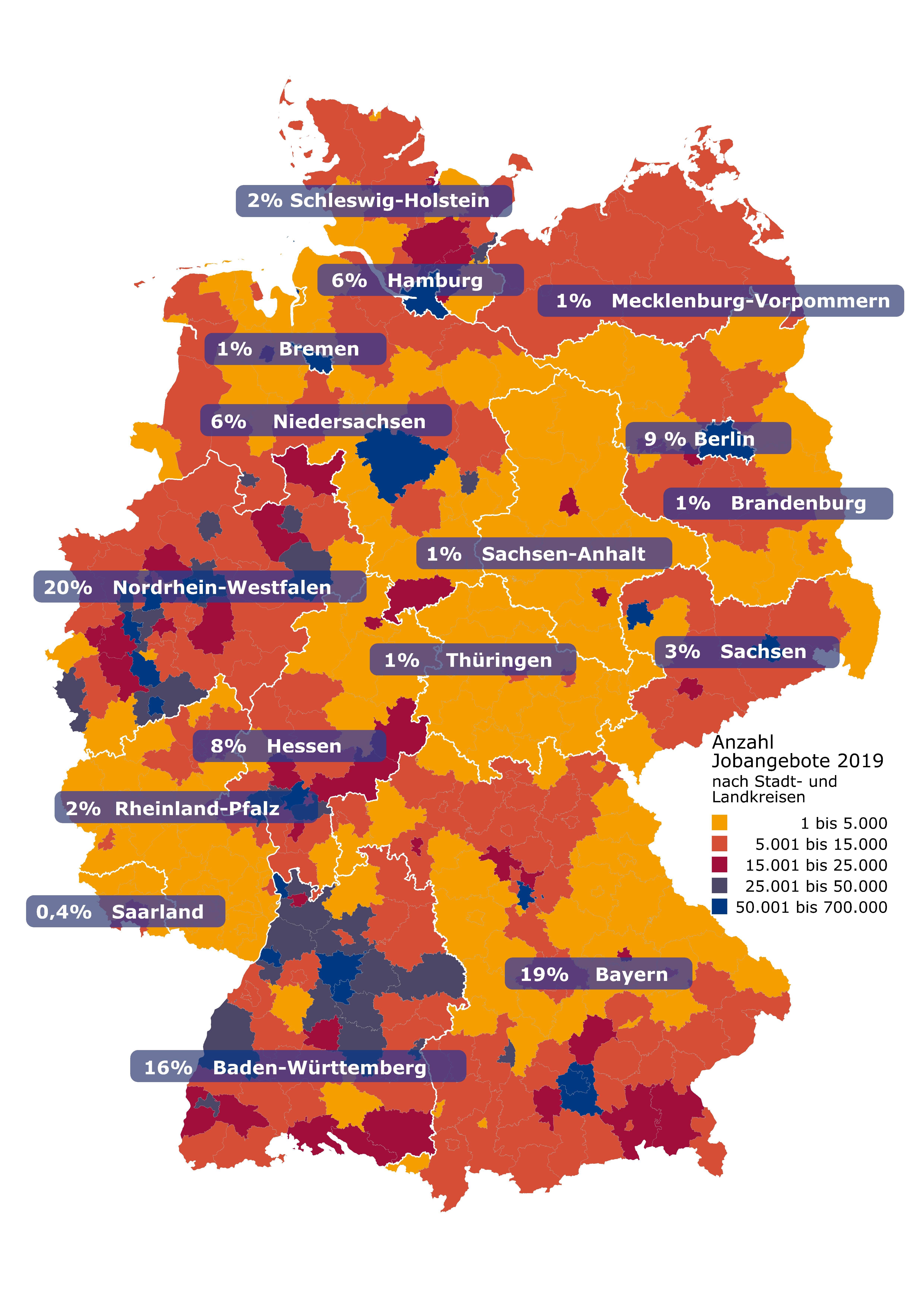 Stellenmarkt 2019 Bundesländer