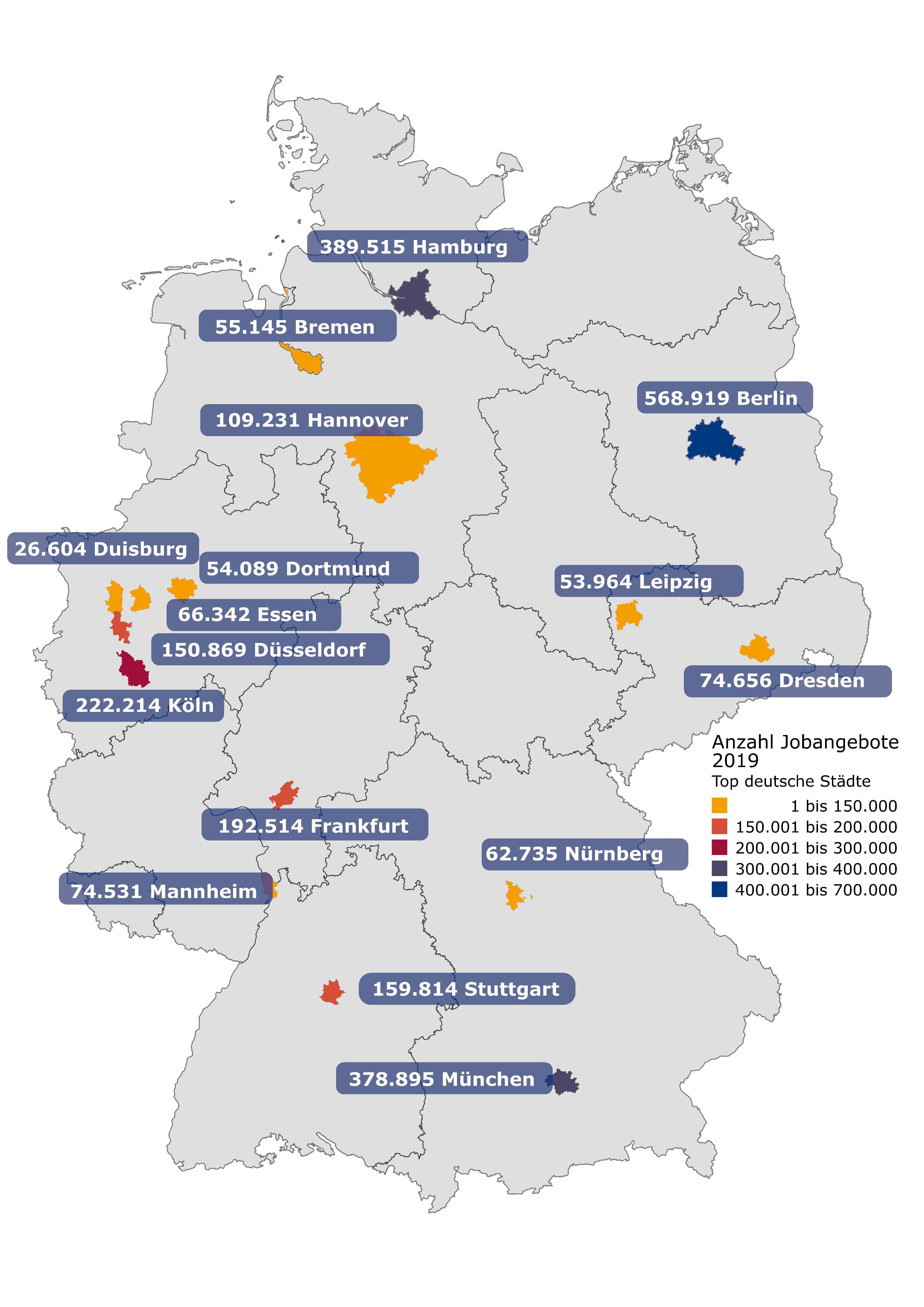 Stellenmarkt 2019 Top Städte