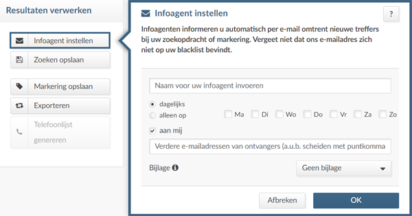 Infoagent in index Advertsdata