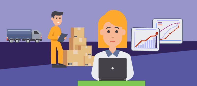 Mitarbeiter in der Logistik und im Finanzwesen