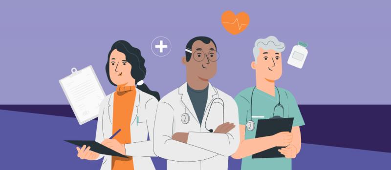 Ärzte und Pfleger in der Corona-Zeit