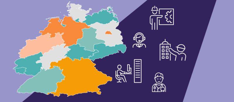 Bundesländer Top 5 Berufsgruppen